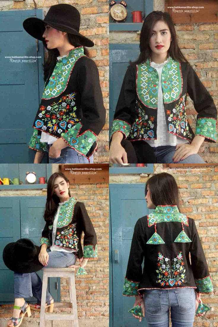 Batik Amarillis made in Indonesia proudly presents :Batik Amarillis's Arcana embroidery jacket #3Indonesia ...Stand out in the crowd with this unique and stunning jacket!this contemporary & yet vintage style is accented with exquisite full polish embroidery also features 4 triangle arcana tassels to complete the whole extravangant work of art!.