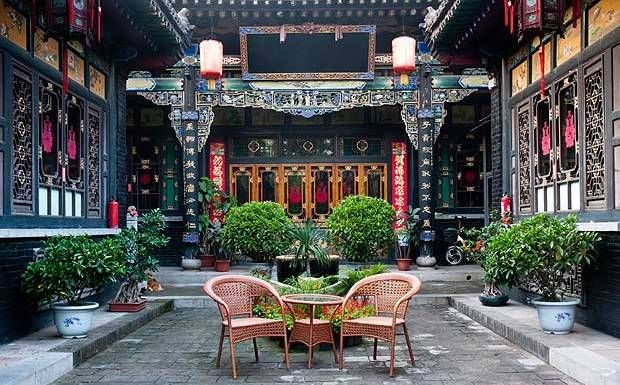 A traditional Chinese courtyard                                                                                                                                                      More