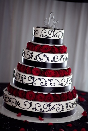 1065 best Dream Wedding (Red, Black, and White Damask Theme) images ...