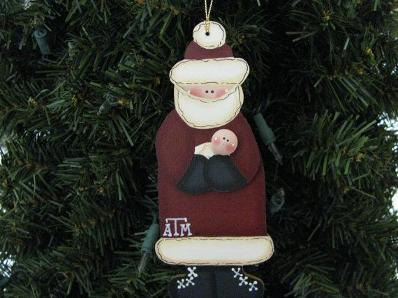 this santa ornament is approximately 6 x 2 12 x 12