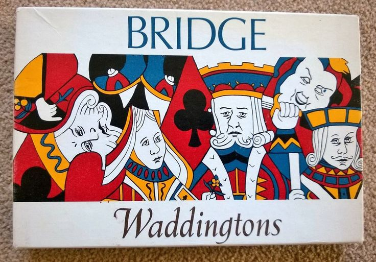 VINTAGE WADDINGTONS BRIDGE SET 1960 S BOXED
