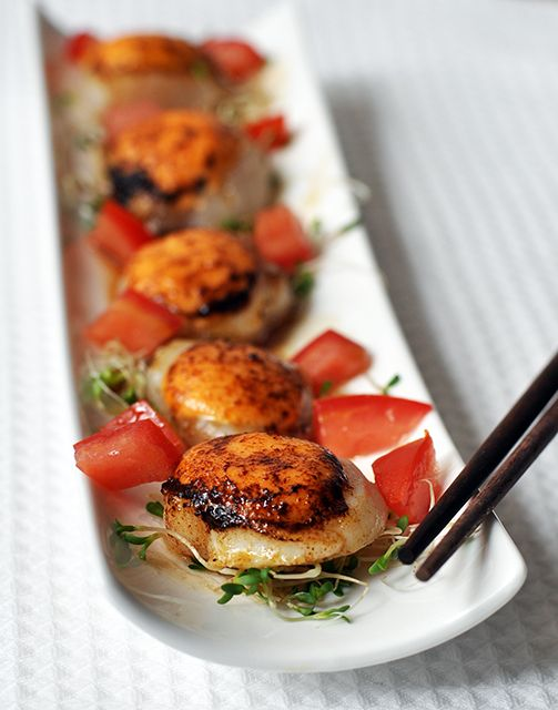spicy scallops with thai dressing....