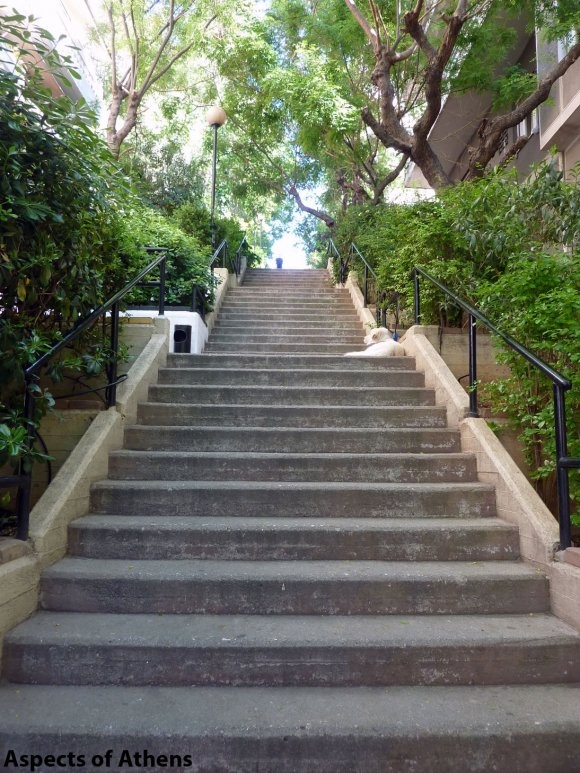 stairs on Lycabettus Hill. I have horrible, horrible memories of these, because they are ENDLESS. <3