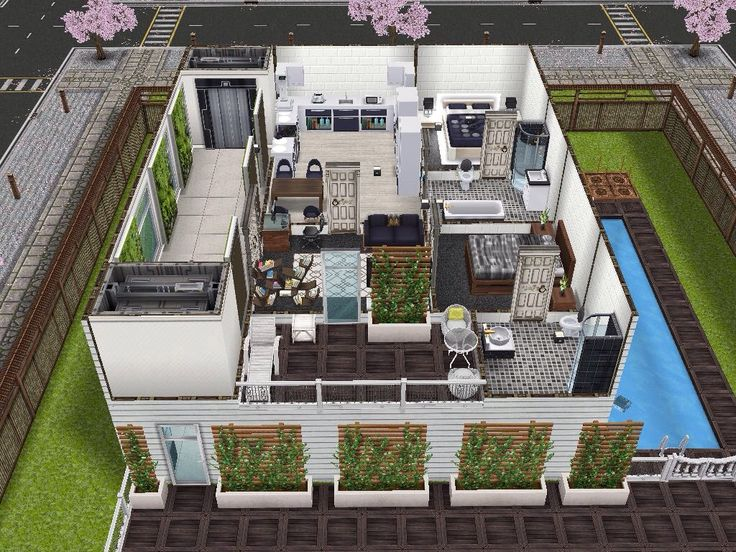 House 1 (apartments) Level 2 #sims #simsfreeplay #simshousedesign