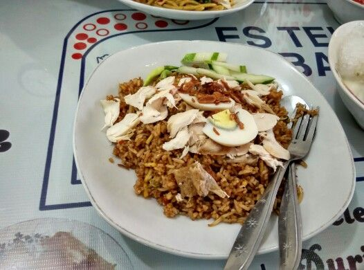 Nasi goreng jawa (Bakso 17) at Foodcourt Pasar Atom Baru.
