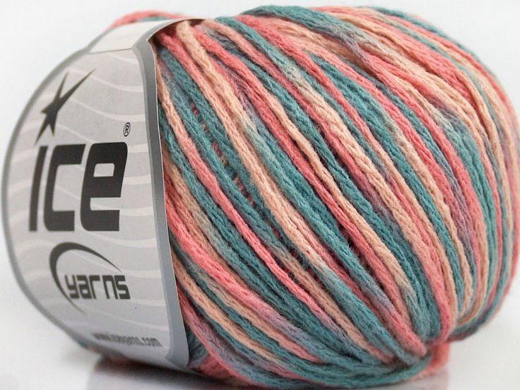 Fiber Content 50% Wool, 50% Acrylic, Pink Shades, Light Blue, Brand Ice Yarns, fnt2-43985