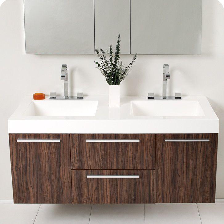 Photo Gallery In Website Fresca Senza Opulento Modern Double Bathroom Vanity Set with Medicine Cabinet AllModern