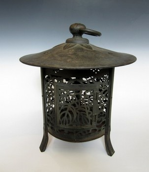 Temple Lantern. Love Japanese iron lanterns. I have two myself. I love any temple artifacts for decorating.