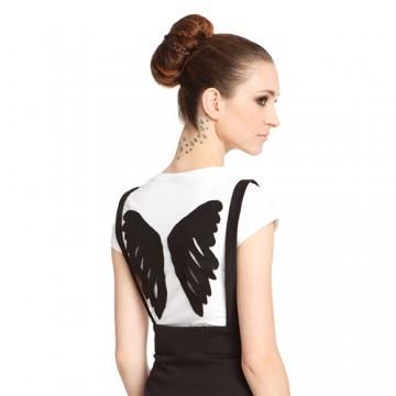 bluzki - t-shirty - damskie-t-shirt WING biały