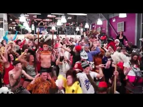 In a very spontaneous fashion I got to Film and Edit the Worcester University Harlem Shake video. It's very Funny and you'll see me in the top right with Robyn on my shoulder and me wearing a Chicken Hat