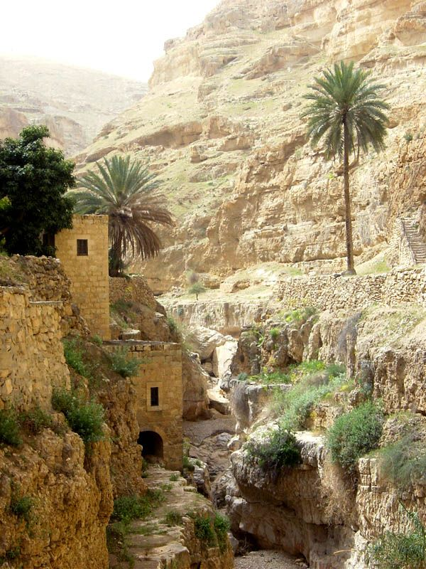The gorge of Wadi Qelt, near Jericho, in the holy land, is home to one of the world's oldest existing Greek-orthodox monasteries.