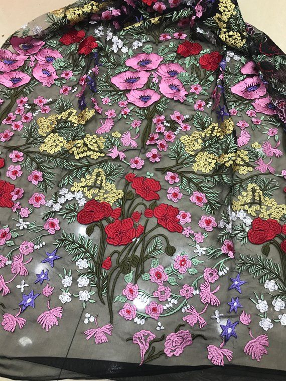 b5c580420f567 2019 Luxury embroidery lace fabric , lace fabric for fashion show ...