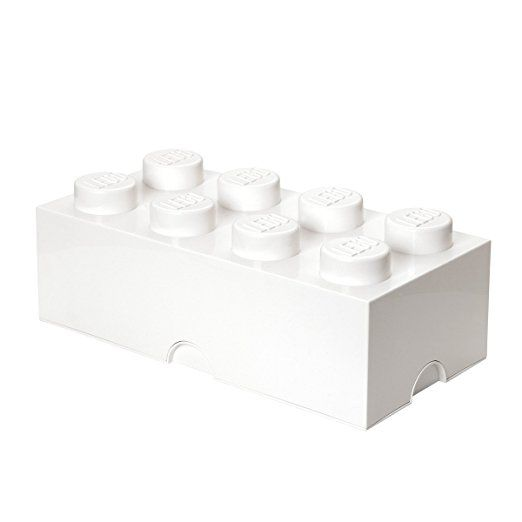 LEGO Lizenzkollektion 40041735 Stapelbare Aufbewahrungsbox, 8 Noppe, weiß