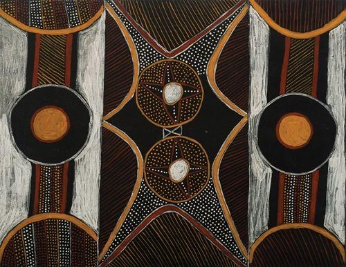 Lydia Burak (Aboriginal Australian), Jilamara, ochre/canvas, c. 2005.