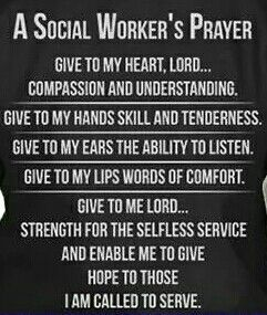 Social Workers prayer