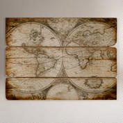 Or this World Market Wood Wall Map above my couch?