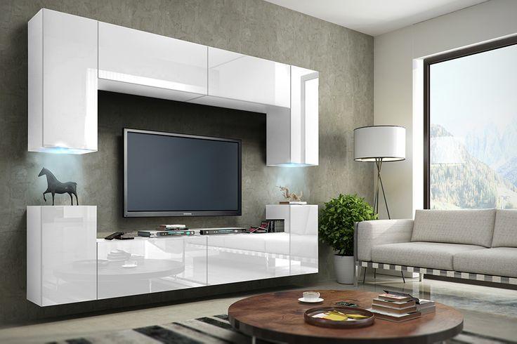 Meblościanka BERG połysk MEBLE salon sypialnia RTV (5690116663) - Allegro.pl - Więcej niż aukcje.