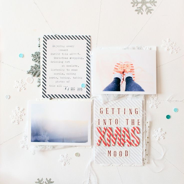 christmas layout // process video // Pinned from luciabarabas.com by Lucia Barabas