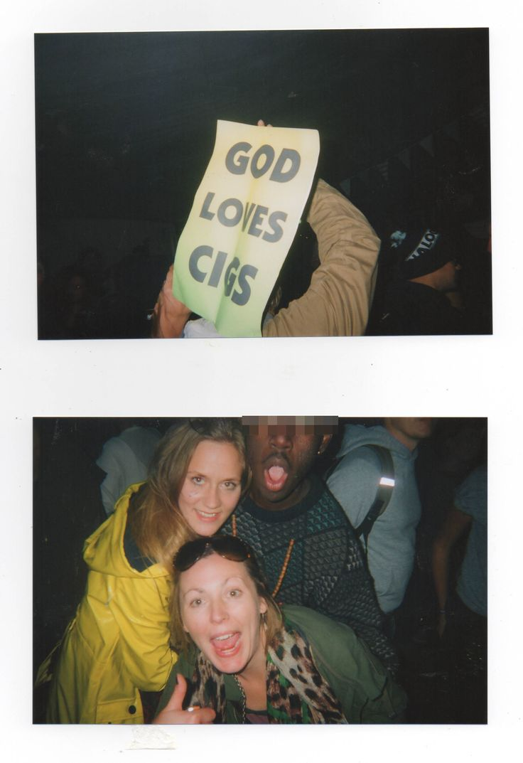 'God Loves Cigs'- Festival 6 Portmierion  Gwynedd, North Wales - 2013. Disposable Camera Archive