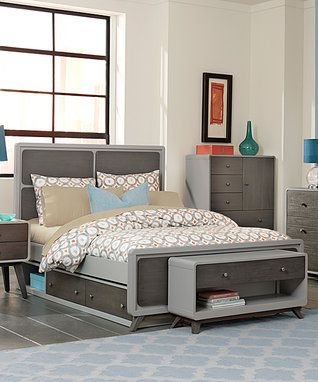 Gray East End Panel Full Bed with Storage