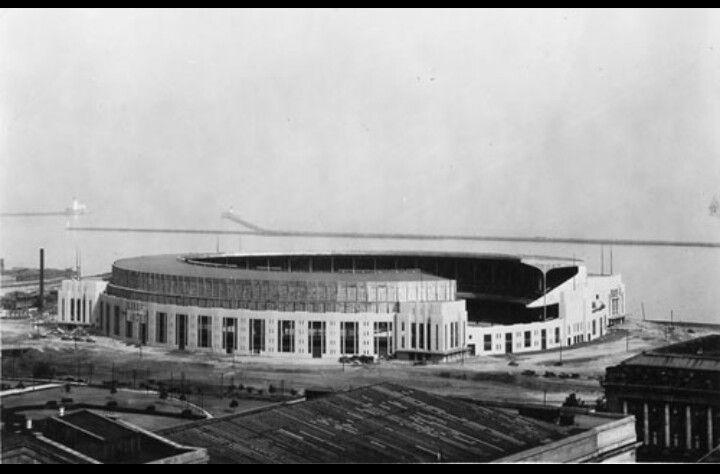 Cleveland municipal stadium. Abandoned in 1996, razed in 1999 to make way for new Municipal Stadium, now called First Energy Stadium