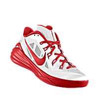 I designed the white Nike Hyperdunk 2014 Low iD men\u0027s basketball shoe with  university red trim