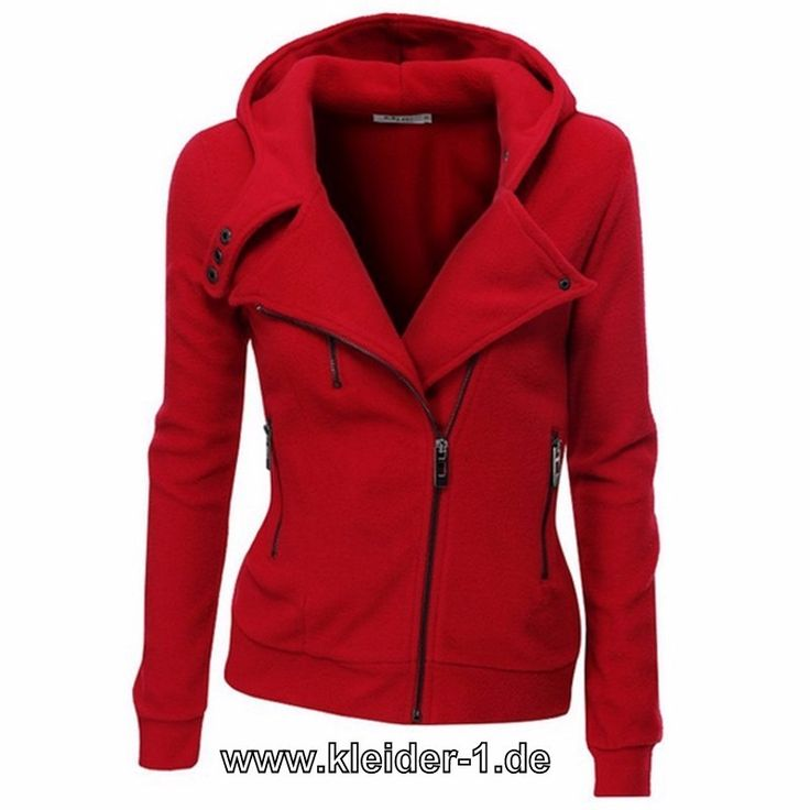 Damen Zipper Jacke in Rot