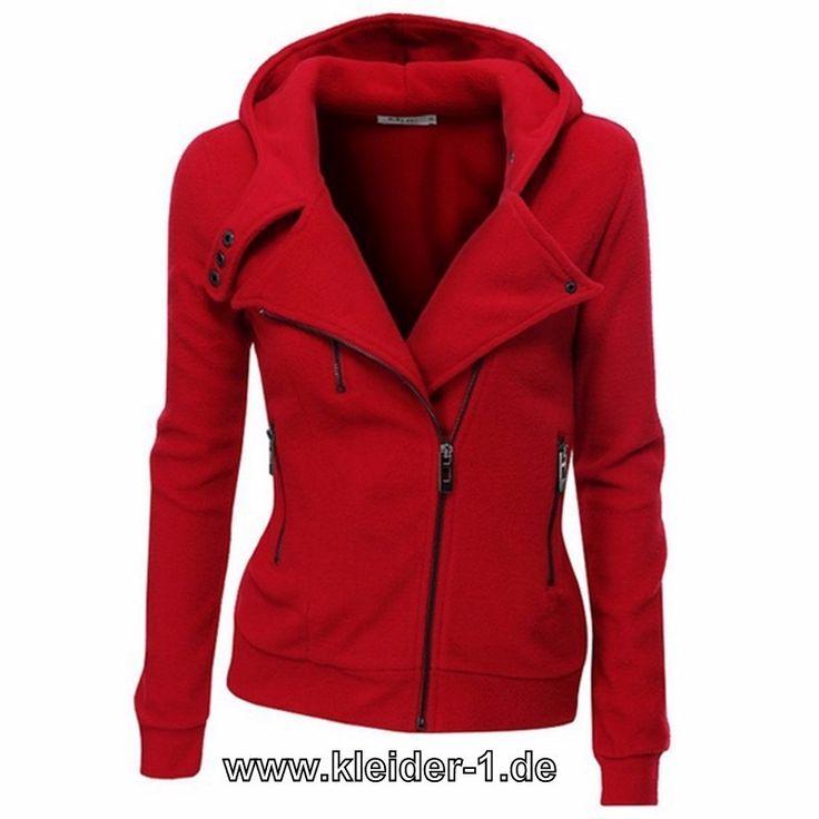 Damen Zipper Jacke in Rot