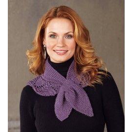Mary Maxim - Free Scalloped Neck Warmer Knit Pattern - Free Patterns - Patterns & Books