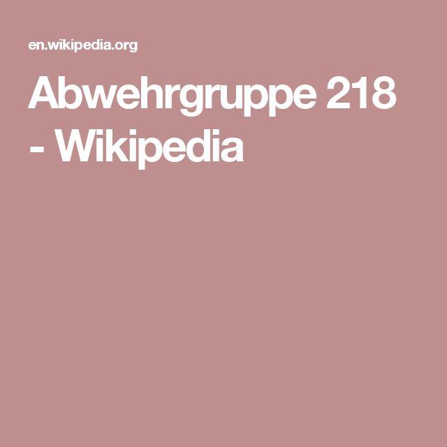 Abwehrgruppe 218 - Wikipedia