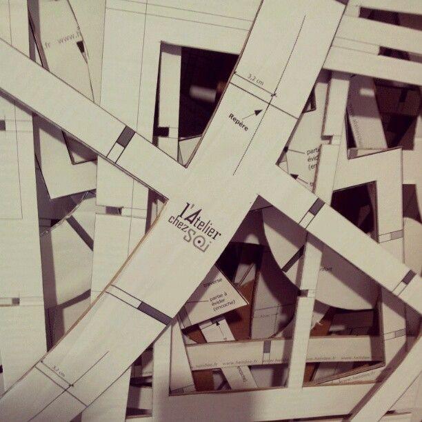[Photo d'Atelier] Patrons de meubles en carton de l'Atelier Chez Soi