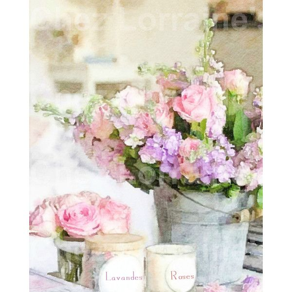 Un fiore dell'acquerello Bouquet vita ancora belle arti stampa,... ($10) ❤ liked on Polyvore featuring home, home decor and cottage home decor
