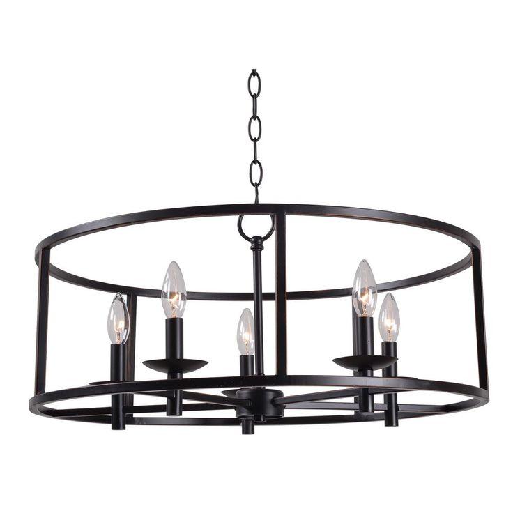 Kenroy Home Arlen 5-Light Bronze Chandelier-93265ORB - The Home Depot