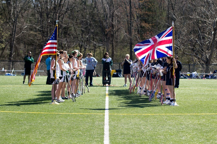 The touring team from Godstone, UK invaded the Long Family Turf Field to play our teams. The Varsity Lacrosse team defeated the visiting Harrogate Ladies College team by a score of 16-10 to officially open their 2012 season.