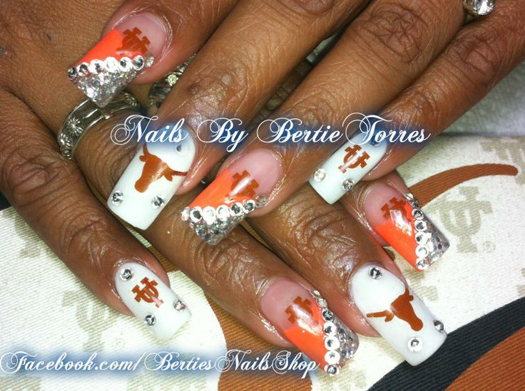 Best Nail Art Houston Tx ~ Houston texan s fan colored nails art ...