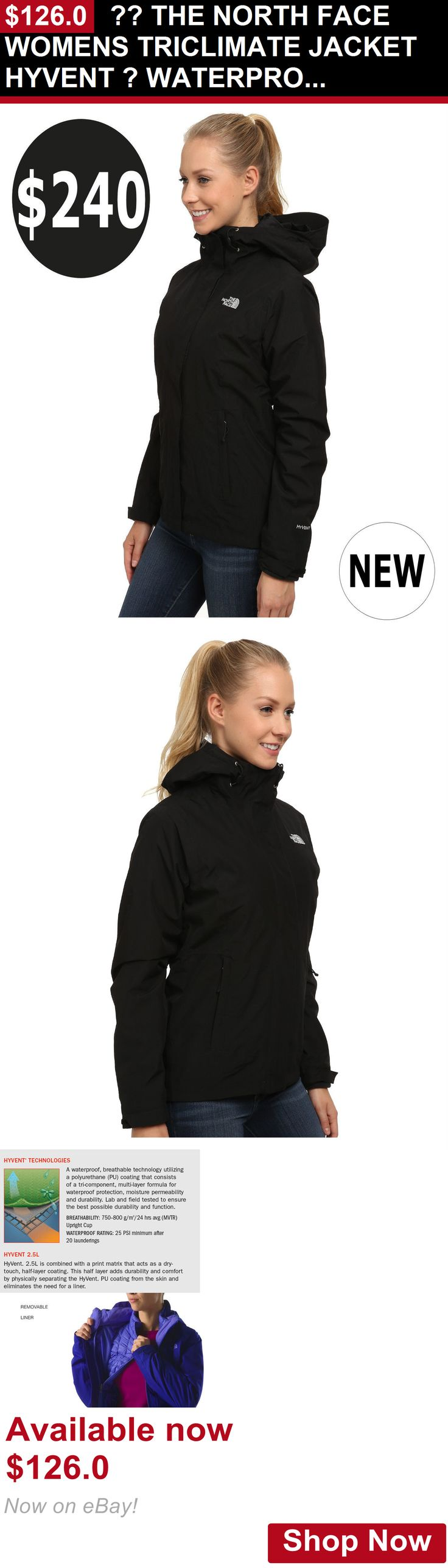 Women clothing: ?? The North Face Womens Triclimate Jacket Hyvent ? Waterproof S,M,L,Xl,Xxl $240 BUY IT NOW ONLY: $126.0