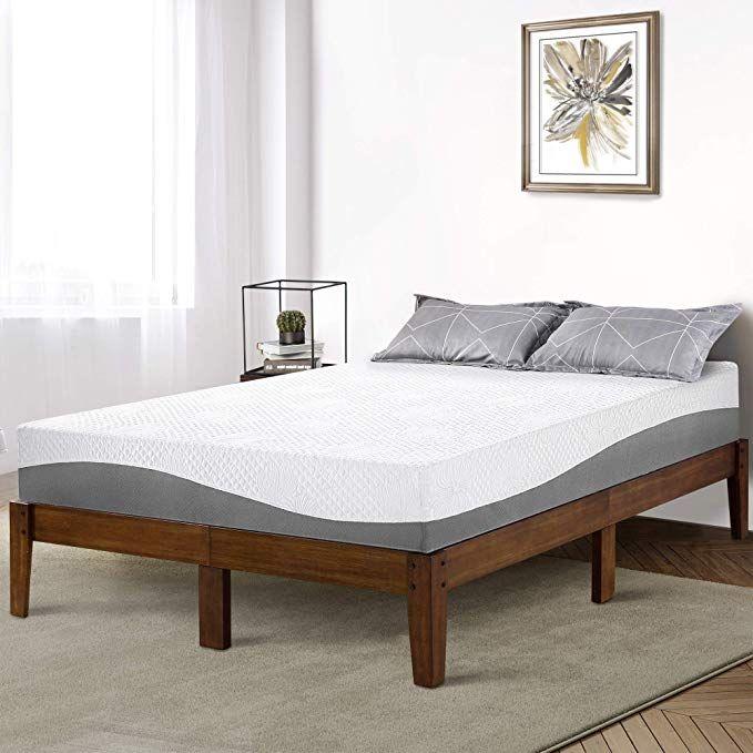 Primasleep 14 Inch Solid Wood Platform Bed Frame Anti Slip Support