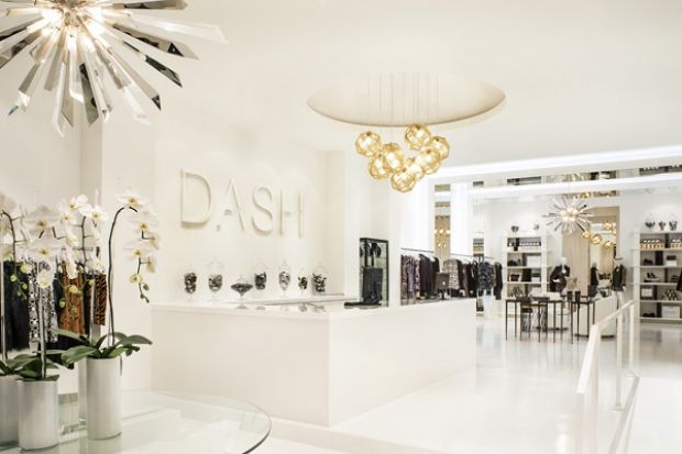 Kardashian's DASH boutique on Melrose Ave. Newly redesigned by Jeff Andrews.