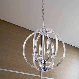 Griselda Contemporary Chrome Finish Orb Chandelier | Overstock.com Shopping - The Best Deals on Chandeliers & Pendants