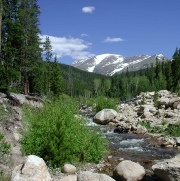 Fly fishing Rocky Mountain National Park - The Big Thompson River  Beautiful Cutthroat