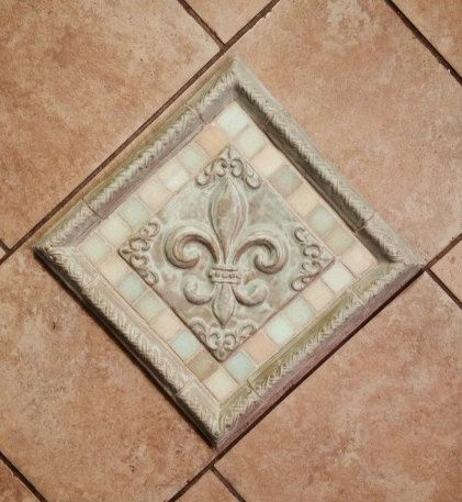 Fleur De Lis Accent Tile By Debbielynndesigns On Etsy In 2018 Tiles Backsplash