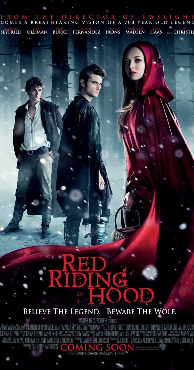 IMDB Rating: 5.5/10. Set in a medieval village that is haunted by a werewolf, a young girl falls for an orphaned woodcutter, much to her family's displeasure. 2011.