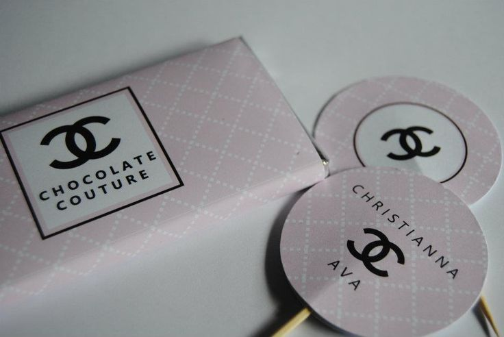 baby Chanel inspired Personalised chocolate favours designed by COCO AVENUE