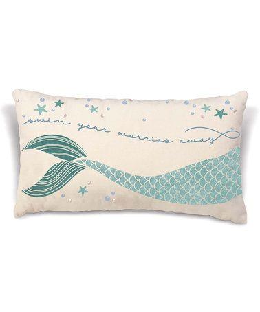 Another great find on #zulily! Coastal 'Swim Your Worries Away' Throw Pillow #zulilyfinds