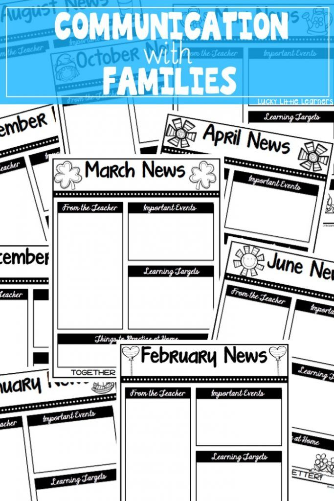 Paper newsletter, video newsletter, BEE binders, and more!  Great ideas for teachers for communicating with families.