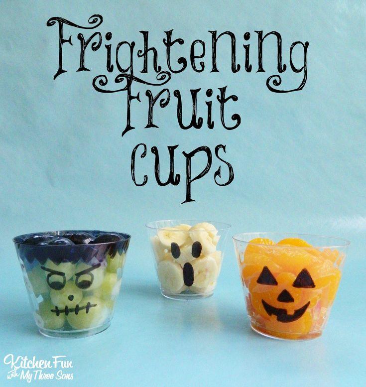 Halloween Frightening Fruit Cups