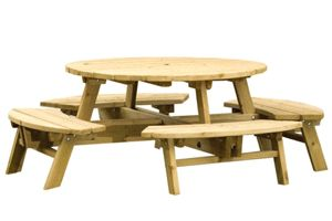 Angus 8 seater picnic table