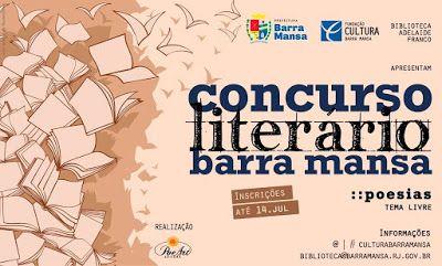 Diario Oficial Concursos literarios: Concurso Literário Barra Mansa - RJ * Antonio Cabr...