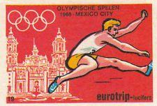 Saut en longueur Long jump OLYMPIC GAMES MEXICO CITY 1968 MATCHBOX LABEL 70s