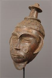 Tikar Mask Bronze